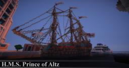 H.M.S. Prince of Altz Minecraft Map & Project