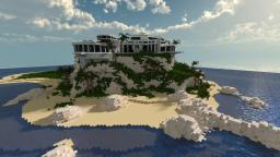 Modern Cliffside Mansion Minecraft Map & Project