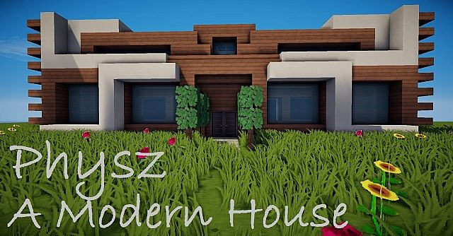 Modern house phys cinematic new minecraft project for Modern house exterior minecraft