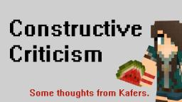 Construct Criticism - Some thoughts Minecraft