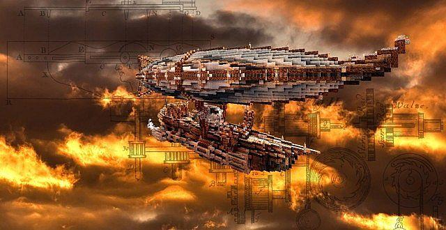 Steampunk Airships Battle Steampunk Airship Interior