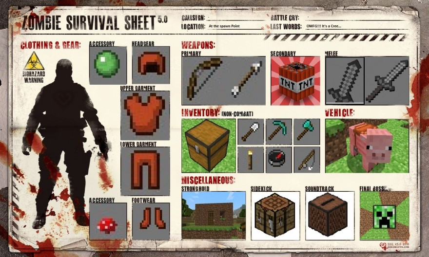how to make a minecraft zombie head costume