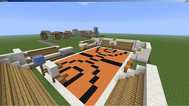 Street basketball court minecraft project for Build a basketball court