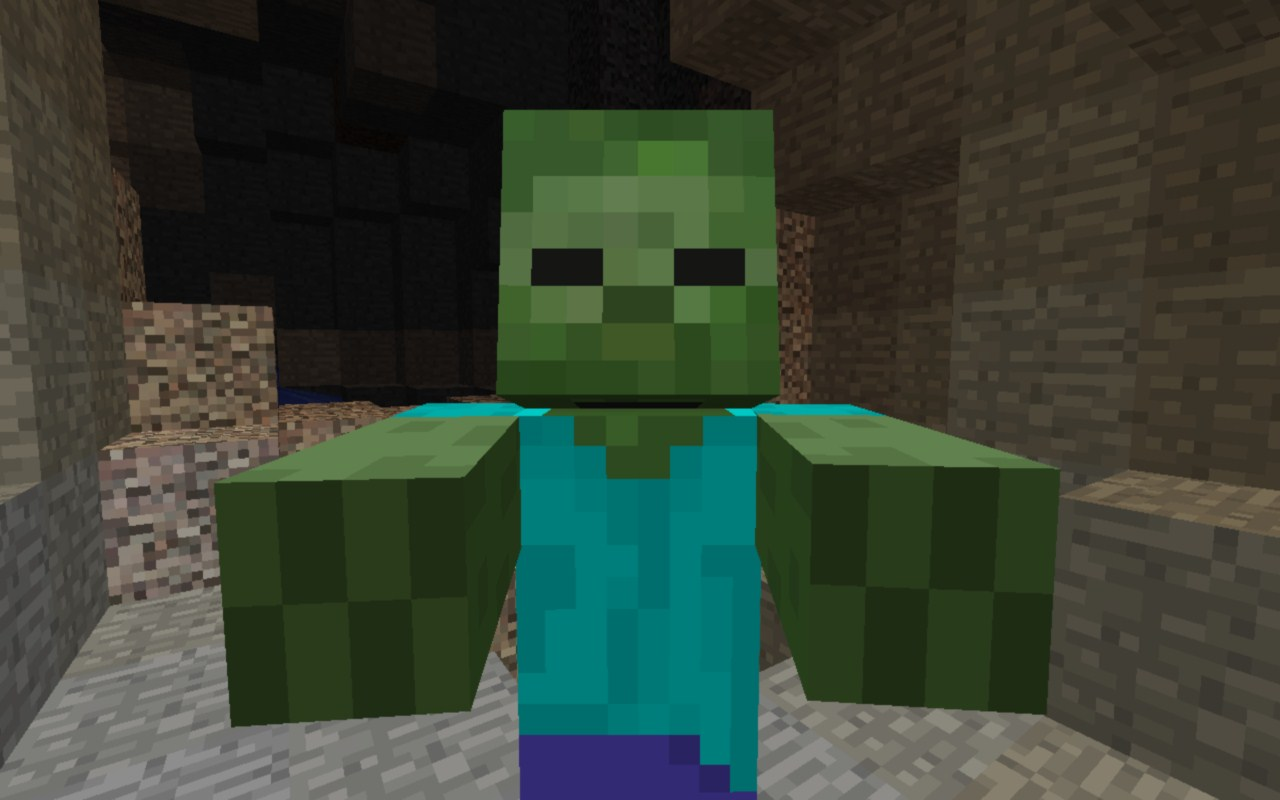 minecraft zombie blocks