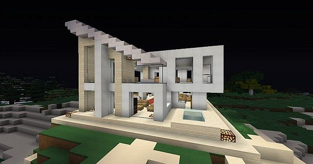 Minecraft modern house casa moderna minecraft project for Casa moderna 2 minecraft