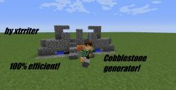 Cobblestone generator 100% efficient hopper Minecraft Map & Project