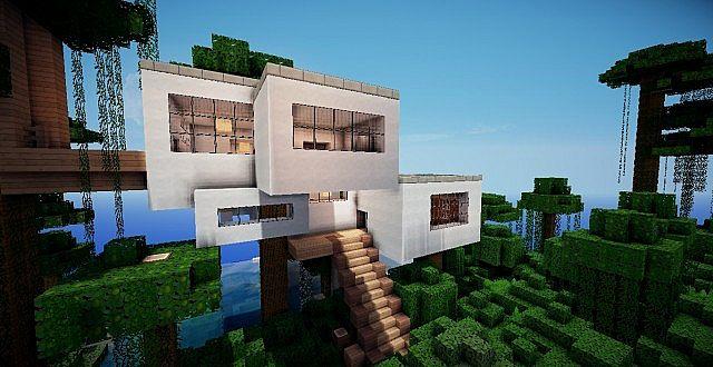 Minecraft Modern Treehouse Minecraft Project