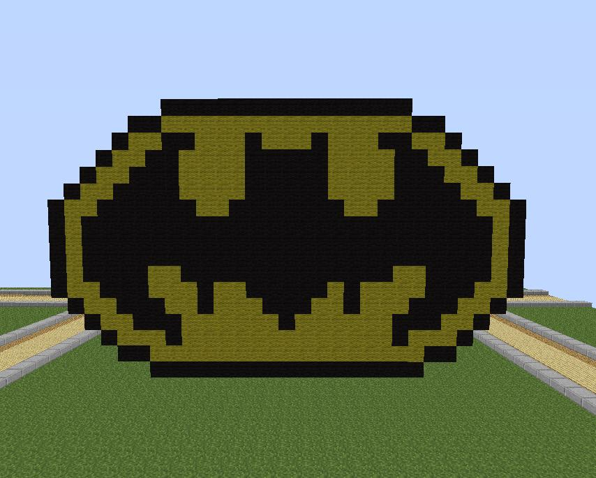 Batman Logo Pixel Art Minecraft Project