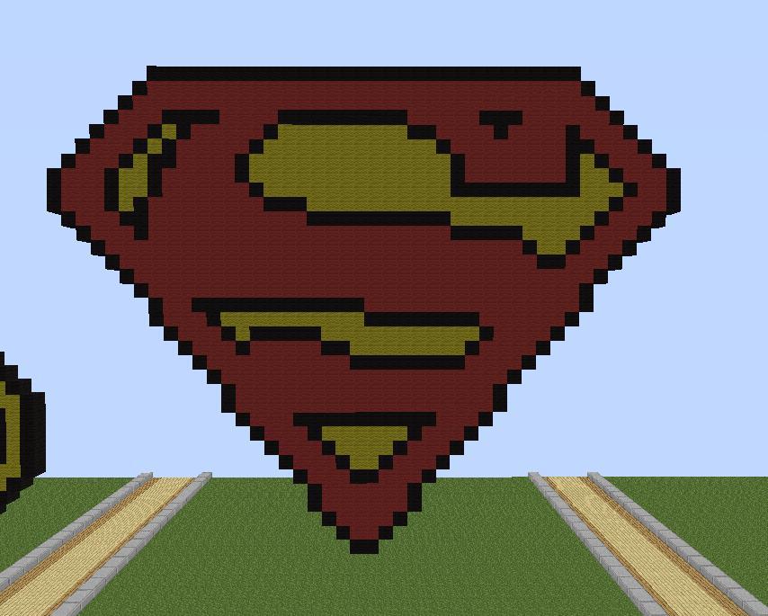 Superman Logo Pixel Art Minecraft Project