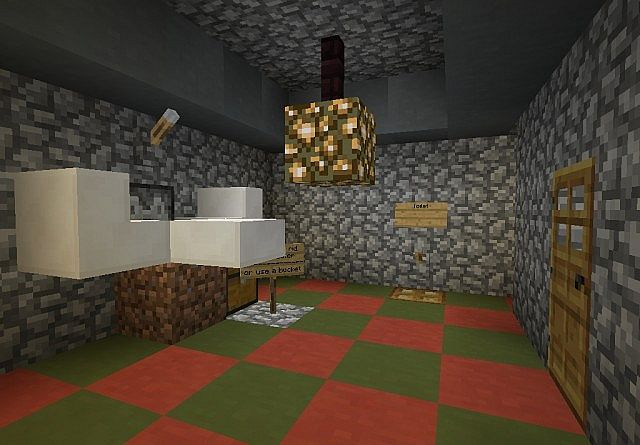 WORKING BATHROOM - no mods required Minecraft Project