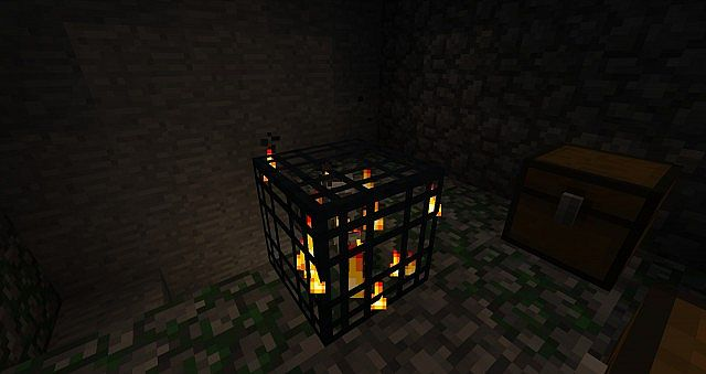 Skeleton spawner below spawn