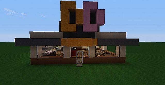 Dunkin donuts minecraft build minecraft project for Minecraft exterior wall design