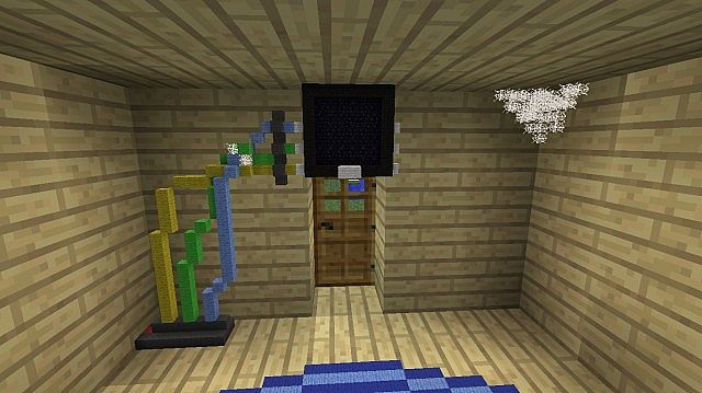 A COOL SMALL HOUSE WITH RANDOM STUFF Minecraft Project