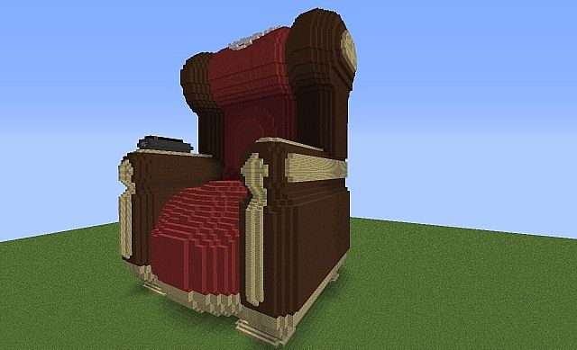 grandmas chair as piston house + Download Minecraft Project