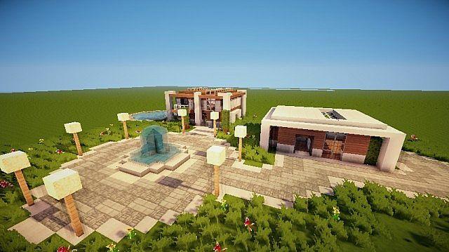 Medium size modern house w garage minecraft project for Medium houses