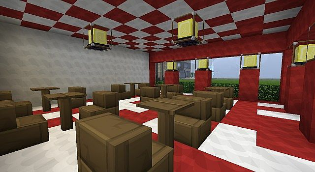 how to make a pizza place in minecraft