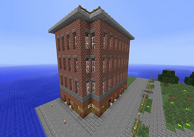 Corner Store And Apartment Building Minecraft Project
