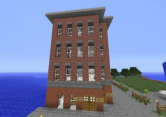 minecraft apartment building.  Corner Store and Apartment Building Minecraft Project