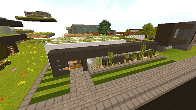 Sleek modern home wok minecraft project Sleek homes that are unapologetically modern