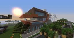 -Curve- -Minimalist Home- Minecraft Map & Project