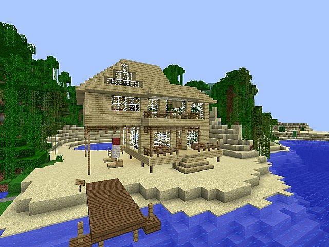 Minecraft beach house minecraft project for Beach house designs minecraft