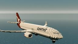Boeing 737-Qantas Minecraft Map & Project