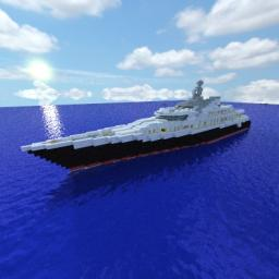 ATTESSA IV SuperYacht Full Scale Minecraft