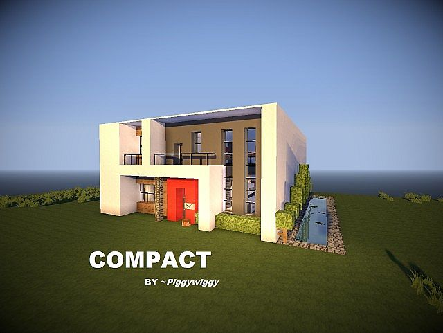 Compact A Modern House Minecraft Project