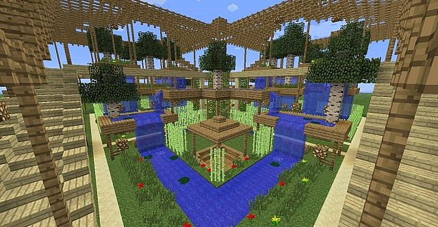 Minecraft Zen Garden hanging gardens minecraft project