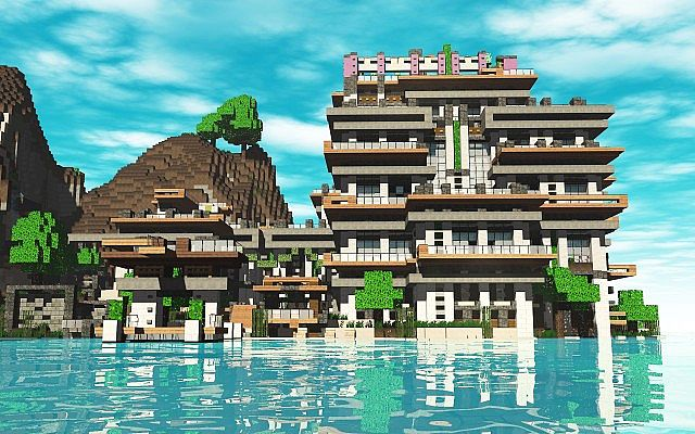 Hotel concept and design 1 6 2 minecraft project for Hotel concepts
