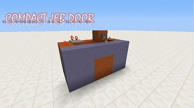Super compact Jeb door & Super compact Jeb door Minecraft Project