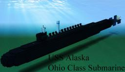 USS Alaska - Ohio Class Submarine Minecraft Map & Project