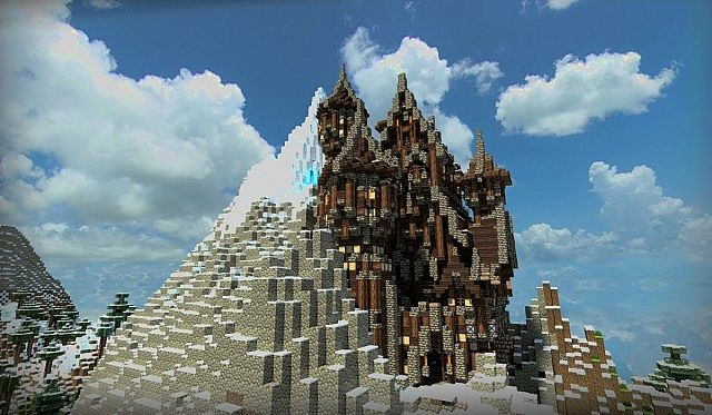 Fantasy Mountain Castle With Download Minecraft Project