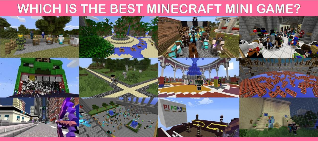 Which Is The Best Minecraft Mini Game Minecraft Blog - Minecraft minispiele