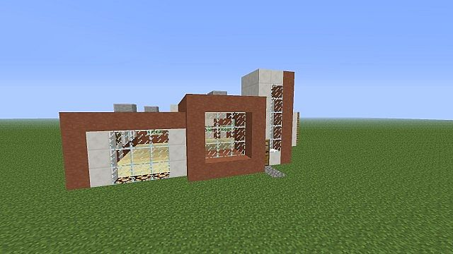 One Story House Unfurnished Modern House Series Minecraft Project