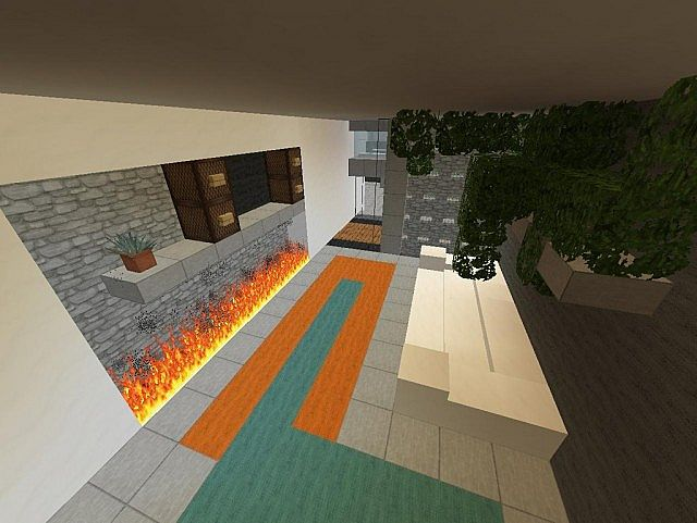 entry way and living