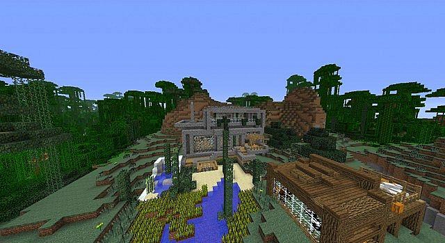 Minecraft Modern Mountain Side House Minecraft Project