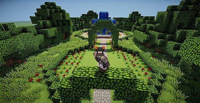 Flower garden minecraft project for Garden designs minecraft