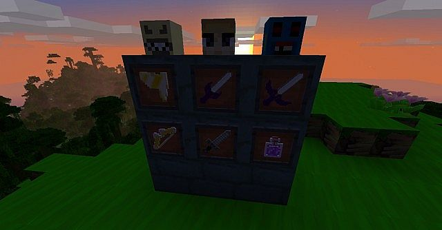 All of the coolest new items and heads triforce shard, sacred sword, master sword, heros bow, heros sword, and a bottle