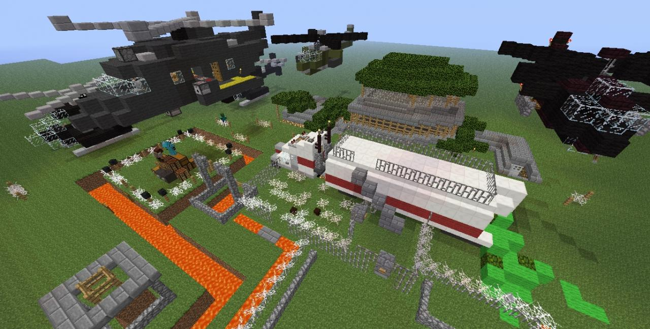 minecraft army base camp fortress minecraft project