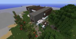 BeachFront- -Minimalist Beach House- Minecraft Map & Project