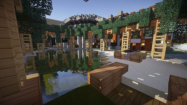 1 8 luxurious modern house 2 map download minecraft forum House map online free