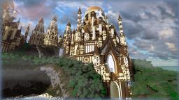 Tropical Sandstone Castle Minecraft