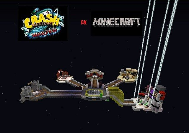 Crash Bandicoot Warped in MC Minecraft Project