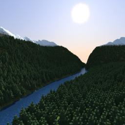 Eufra - 4460x4460 Realistic Terrain map Minecraft Project