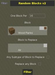 MCEdit Filter: Random Blocks 2 Minecraft Mod