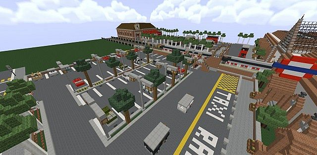 how to make a train stop in minecraft