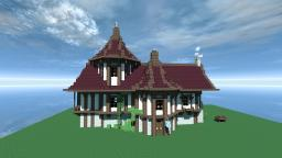 Small House Inspired By Cheydinhal Style Architecture ( OBLIVION ) Minecraft Map & Project