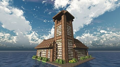 Storehouse With Tower Minecraft Project