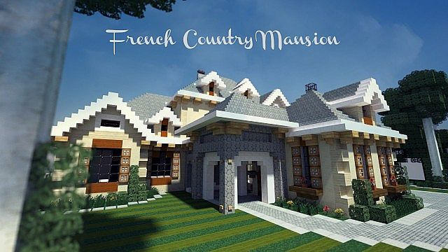 French Country Mansion Wok Download Minecraft Project